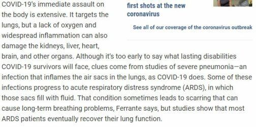 Information about COVID 19 virus.