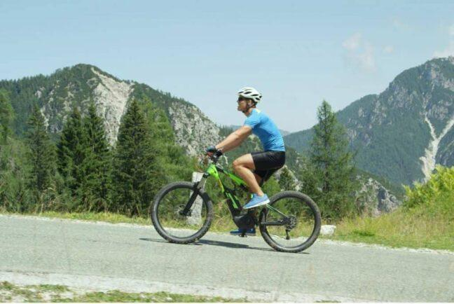 Electric Bikes Go Uphill with use of throttle.