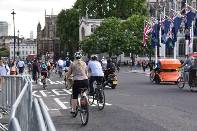 Biking home after work can avoid congestion on the road