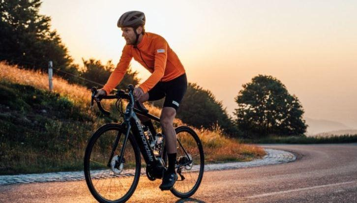 Riding cannondale bike as feature image for cannondale bosch electric bike