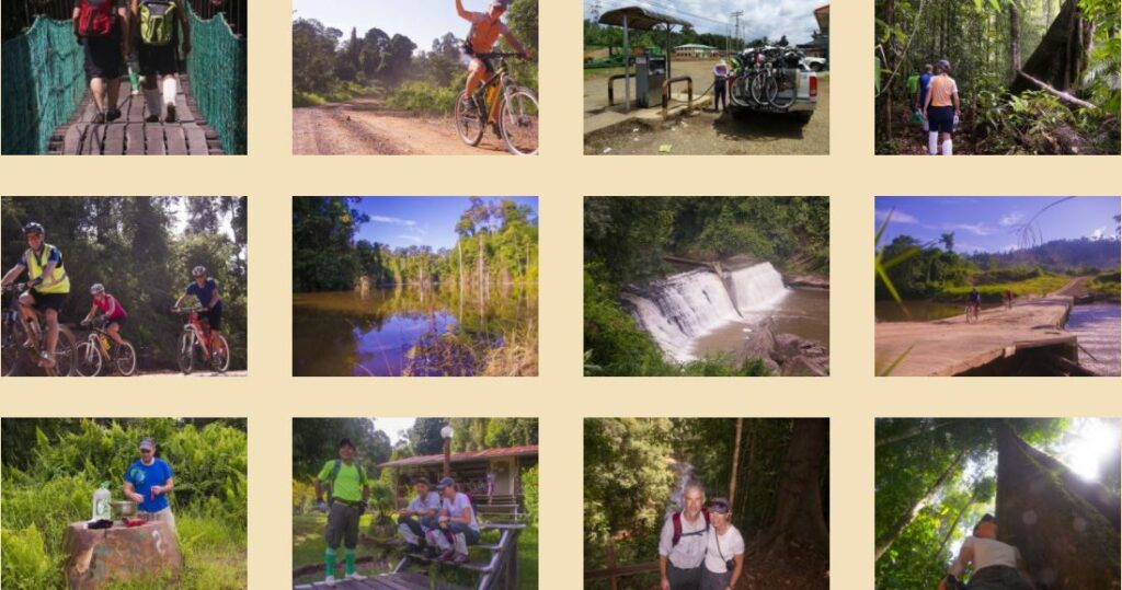 The cycling route in Imbak Canyon is the best cycling place for nature lovers.