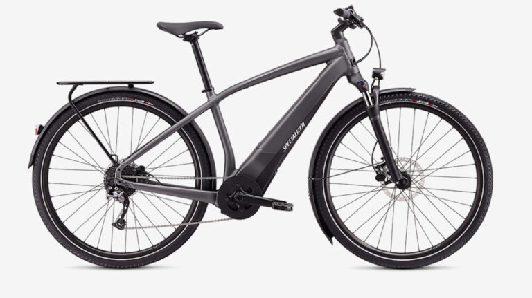 Electric Bike with best front forks as feature image for electric bike forks.