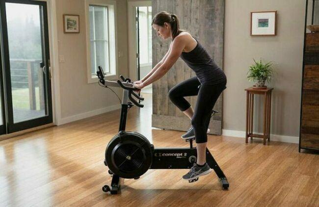 Image of how Exercise Fan Bike is used at home