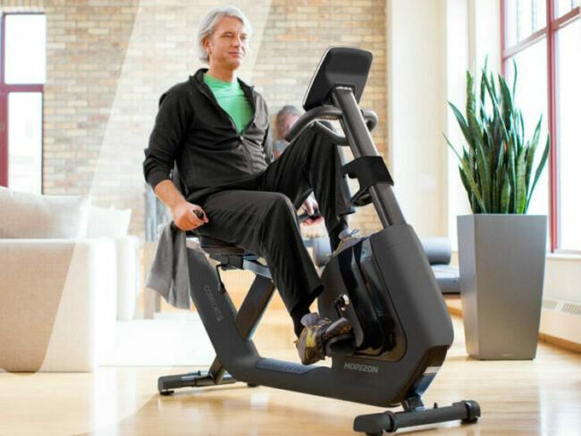 Exercise Upright Bike is good for seniors to do the workout at home.