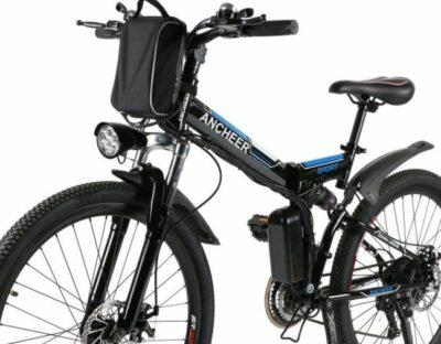 ANCHEER 26 inches Folding Electric Mountain Bike as model #4 Best Buy Electric Bikes below 1000.