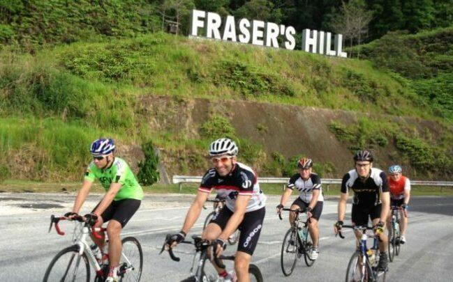 Cycling to Fraser Hill in weekend as feature image for Schwinn Electric Bikes Sale.