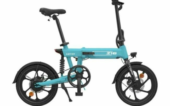 HIMO Z16 folding electric bike as model #14 electric bikes for work