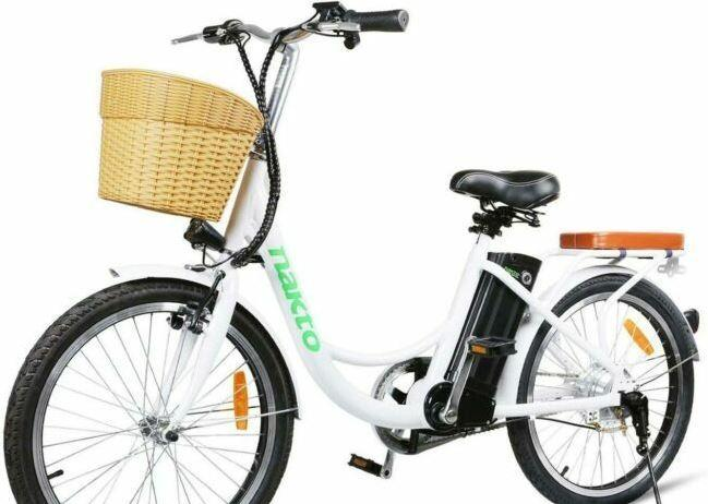 NAKTO 22 inches Electric Bike suitable for seniors to go shopping.
