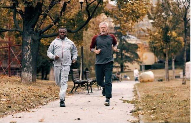 Seniors jogging is good for health